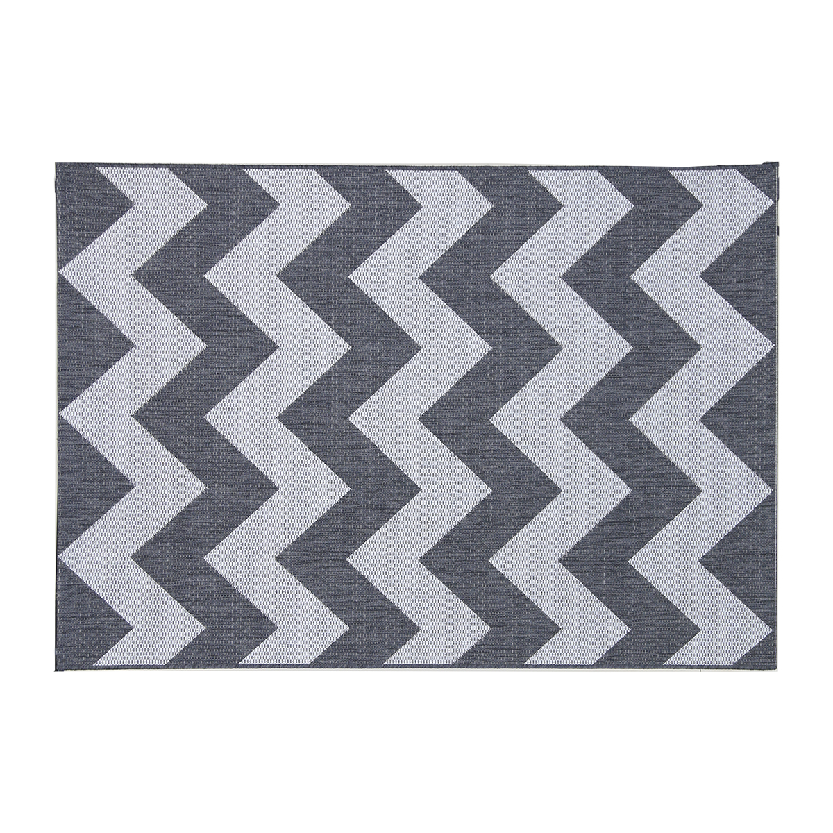 Picture of: Charles Bentley County Chevron Rug Grey White