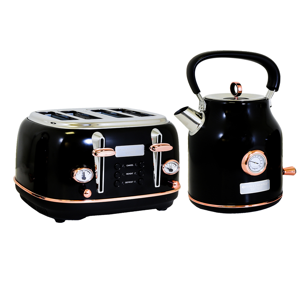 Black Kettle and Toaster Set