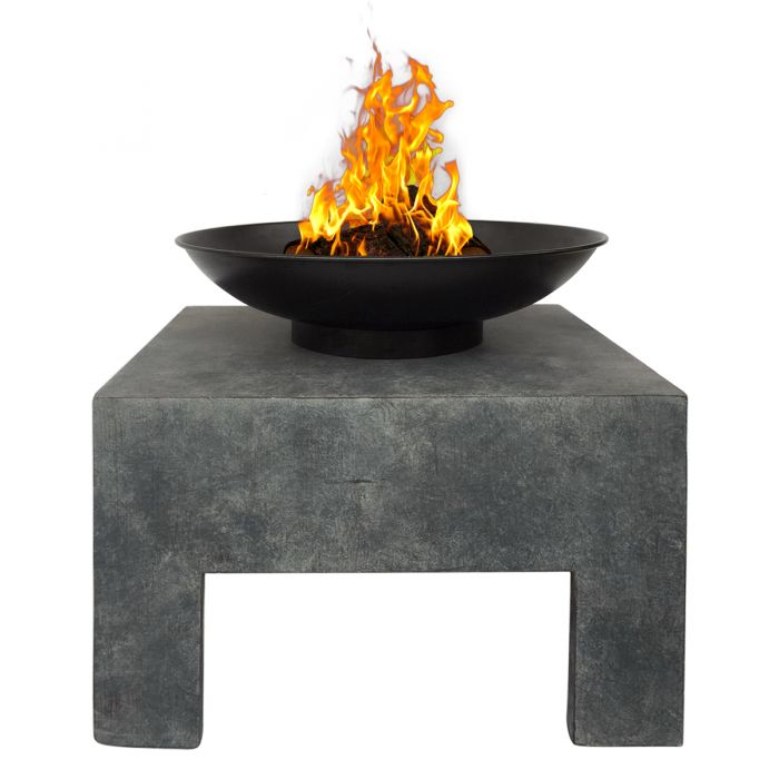 Bentley Garden Metal Fire Bowl With Square Stand